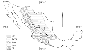 Central Mexico Map by Timing Of Magmatic Activity And Mineralization And Evidence Of A