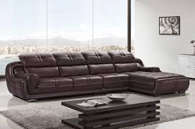 modern sectional top grain leather