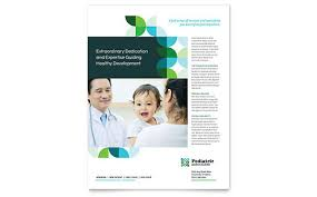 healthcare brochure templates free pediatric doctor brochure template word publisher