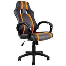 gracieux siege bureau baquet fauteuil de noir gris et orange v