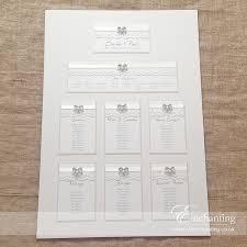 Wedding Stationery Ivory Lace Wedding Stationery Table Plan Enchanting