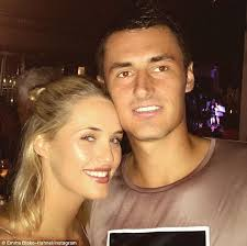 The Australian Open wags who     ll be cheering on stars like Nick     Daily Mail Lady love  Melbourne based model Emma Blake Hahnel has paired up with tennis
