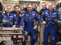 new soyuz trio completes two day trip to station nasa