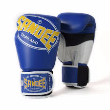 sandee cool tech boxing gloves blue yellow