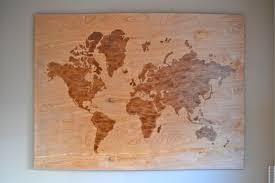 World Map Push Pin Board by Diy Wooden World Map Art A Dash Of Megnut