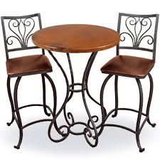 Antique Round Dining Table Antique Wrought Iron Square Seat Bar Stools Combined Round Dining