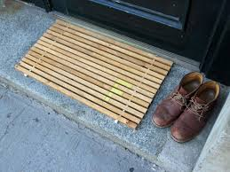 Outdoor Bamboo Rugs For Patios Bamboo Door Mat Domesticated Nomad Door Mat Cheap And Easy
