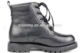steel head leather boots men winter shoes army safety boots
