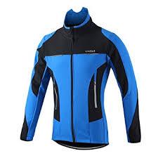 thermal cycling jacket amazon com lixada men s outdoor cycling jacket winter thermal
