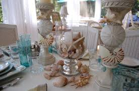 Incredibly Beautiful Dining Table With Beach Centerpiece - Dining room table decorations for summer
