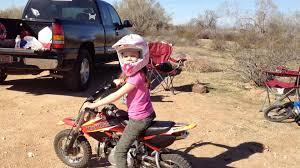 girls motocross gear daughter rides dirt bike by herself youtube