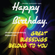 happy birthday blessings nice christian card