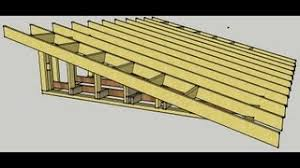 How To Build A Shed Roof House by Skillion Roof Procedure Youtube
