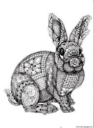 difficult rabbit coloring pages printable