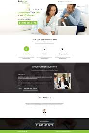 debt consolidation ppc landing page design template for credit