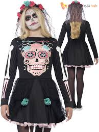 Skeleton Costume For Halloween Ladies Teen Girls Day Of The Dead Mexican Skeleton Halloween Fancy