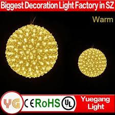bright lighting tree decorating big balls