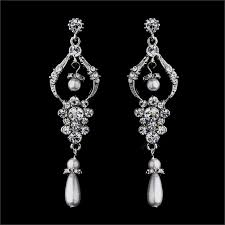 pearl chandelier earrings chandelier earrings rhinestone and pearl drops