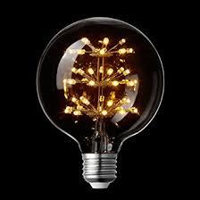 LightStory Globe LED Light Bulb E26 Base G30 Starry 3W 2200K