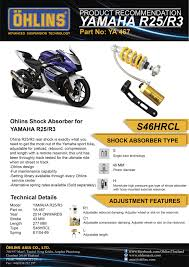 ohlins shock absorber for yamaha yzf r25 r3 mt 03 ya467