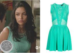 lexi rivera bianca santos wears this mint green lace cut out
