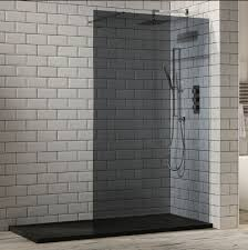 1200mm Shower Door Frontline Aquaglass 1200mm Tinted Walk In Shower Enclosure