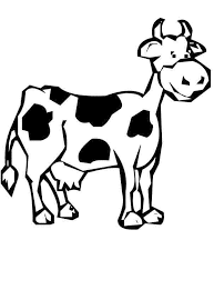 coloring pages fascinating cow drawing for kids farm coloring