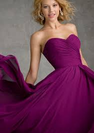 Wine Colored Bridesmaid Dresses Chiffon Bridesmaid Dress With Sweetheart Neckline Style 20425