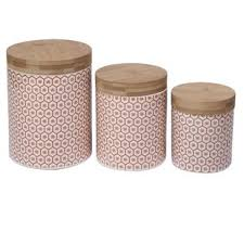 ceramic kitchen canister set kitchen canisters jars you ll love wayfair