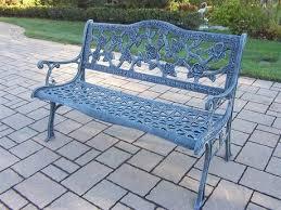 oakland living english rose cast aluminum bench in antique bronze