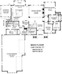 craftsman style house plan 3 beds 4 50 baths 4739 sq ft plan 51 557