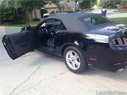 Black Mustang V6 2014 Ford Mustang V6 Convertible Auto Lease
