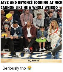 Jay Z Beyonce Meme - jayz and beyonce looking at nick cannon like he a whole weirdo