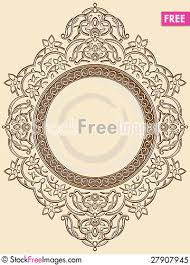 vintage floral circle ornament free stock photos images