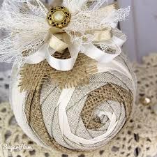 shabby chic christmas ornament using the iris pattern by sugarplum