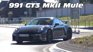 lifted porsche 2017 porsche 991 gt3 mkii mule spied on the road youtube