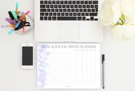 social media planner paper chic co launch