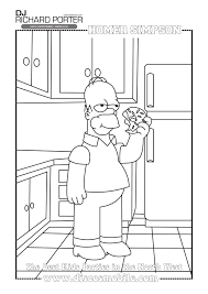 homer simpson colouring pages wedding dj richard porter