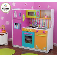 cuisine enfant kidkraft grande cuisine enfant couleurs vives achat vente