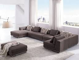 furniture modern u shaped sectional couch with chaise and ottoman