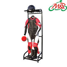 motorcycle leather suit black motorcycle leather suit helmet boots storage rack ebay
