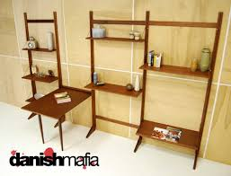 Danish Modern Teak Desk by Mid Century Danish Modern Teak Cado Wall Shelving System Display