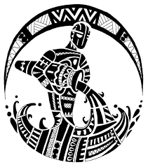 black polynesian aquarius design