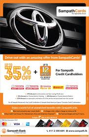 toyota credit bank toyota lanka promotion on now make the best out of it facebook