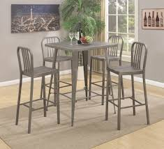Pub Table Set Coaster 10593 5 Piece Metal Bar Table Set Dunk U0026 Bright