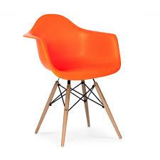 Orange Armchair Eames Style Daw Dowel Armchair