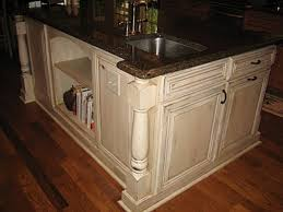 distressed island kitchen distressed cream kitchen cabinets kitchens pinterest cream