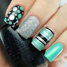 15 lindos diseños de uñas con puntos y rayas spring design and