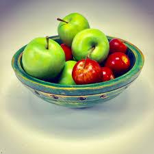 Fruit Bowl Green Fruit Bowl Alan Adler Turning