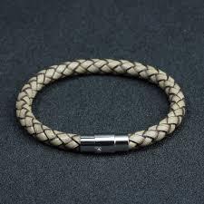 magnetic clip bracelet images Leather bracelet men women stainless steel new magnetic genuine dzhine jpg